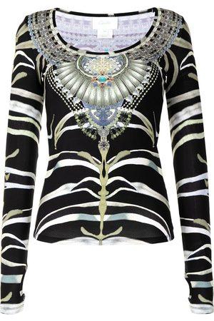 Camilla Senhora Tops desportivos - Zebra jewel print top