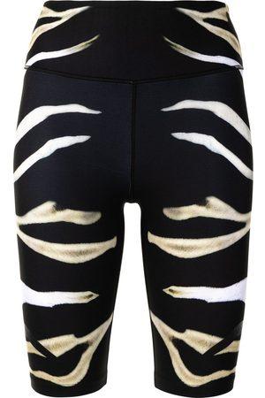 Camilla Senhora Calções desportivos - Zebra print bike shorts