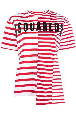 Dsquared2 Striped logo-print T-shirt