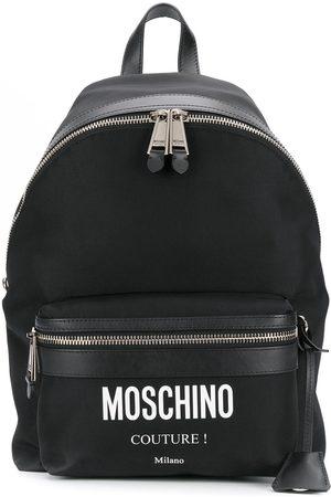 Moschino Homem Mochilas - Printed logo backpack