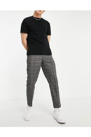 River Island Homem Joggers - Skinny smart jogger in grey check