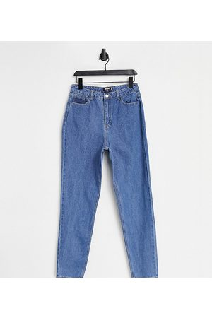 Missguided Tall Senhora Jeans - Riot high waisted plain rigid mom jean in blue