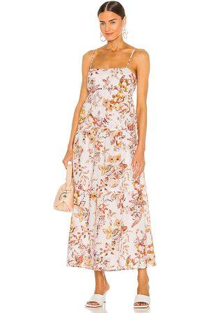 Bardot Floral Flow Dress in - Cream,Orange. Size L (also in S, XS, M).
