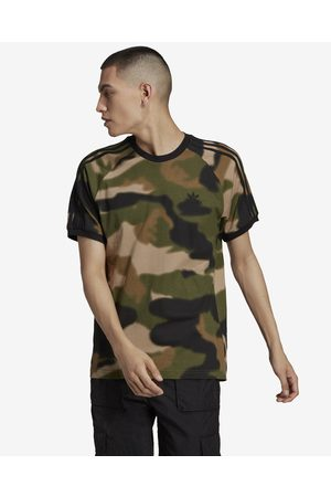 adidas Camo 3-Stripes T-shirt Green Brown