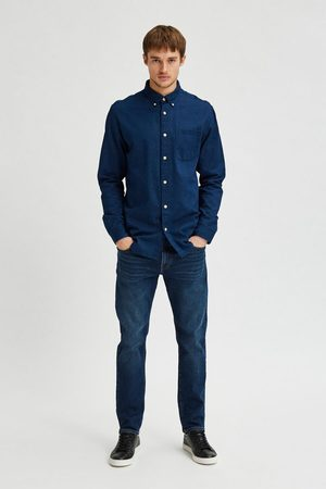 SELECTED Homem Ganga - Camisa denim slim