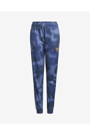 adidas All-Over Print Kids Joggings Blue