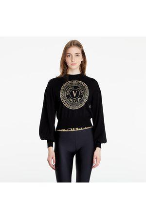 VERSACE W Round Lurex Sweater
