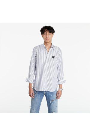 Comme des Garçons Black Heart Striped Shirt Light Blue/ /Black