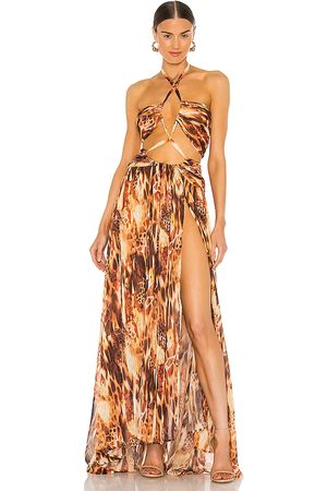 Bronx and Banco Fire Gown in - Burnt Orange. Size M (also in XS, S).