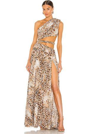 Bronx and Banco Senhora Vestidos de Festa - Jafari Gown in - Tan. Size M (also in XS, S, L).