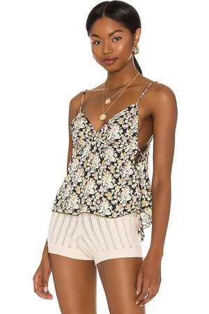 Free People Gardenia Printed Cami in - Black. Size L (also in XS, S, M).