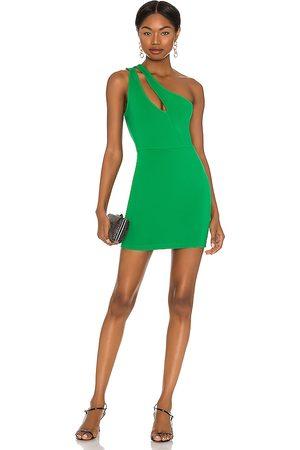 superdown Nava Asymmetrical Mini Dress in - Green. Size L (also in M, S, XL, XS, XXS).
