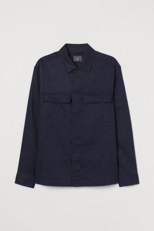 H&M Camisa em mistura de linho