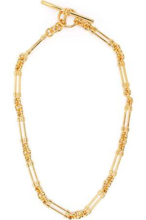 Saint Laurent T-bar elongated chain necklace