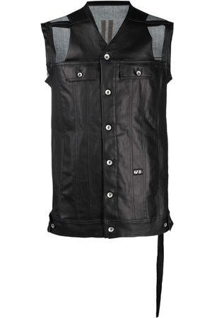 Rick Owens Senhora Coletes - Distressed sleeveless jacket
