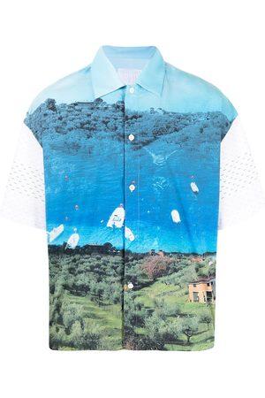 Off-Duty Homem T-shirts & Manga Curta - MR. TRIANGLE landscape print T-shirt