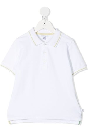 KNOT Menino Pólos - Stripe-detail polo shirt
