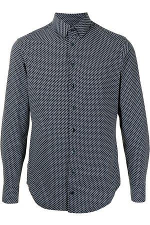 Armani Zigzag print cotton shirt