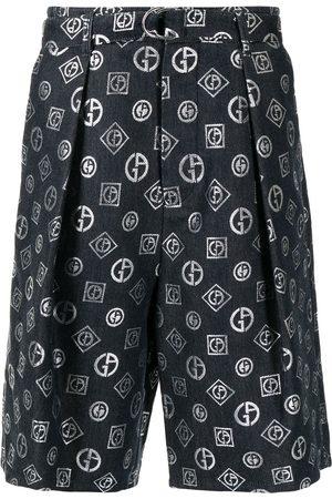 Armani Monogram print bermuda shorts