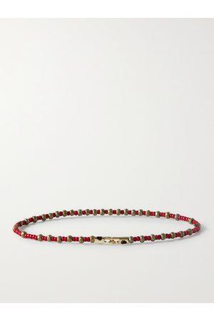 LUIS MORAIS Homem Pulseiras - Bead and 14-Karat Gold Bracelet