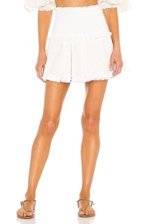 CHIO Ruffle Mini Skirt in - . Size L (also in XS, S, M).
