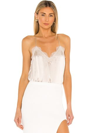 CAMI Racer Charmeuse Cami in - Nude. Size L (also in XS, S, M).