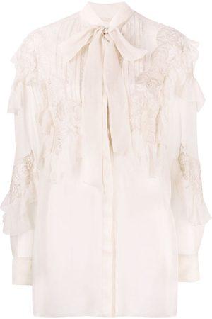 VALENTINO Senhora Blusas - Semi-sheer lace blouse