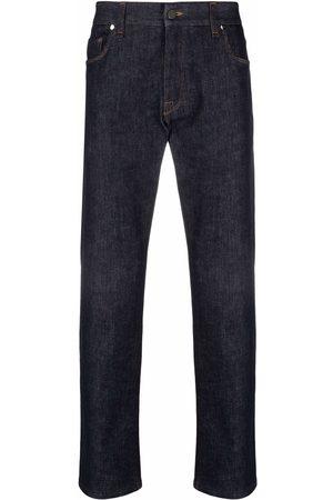 Fendi Homem Retos - Raised-logo jeans