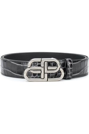 Balenciaga BB crocodile-embossed belt