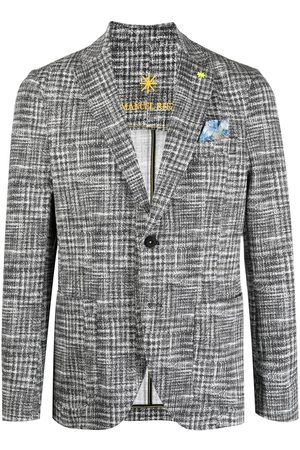 Manuel Ritz Homem Blazers - Single-breasted jersey blazer