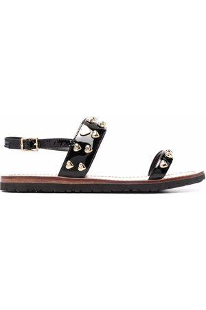 Love Moschino Heart-stud flat sandals