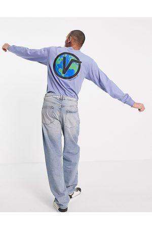 Vans Homem Sweatshirts de Manga larga - Off the wall classic globe long sleeve t-shirt in infinity blue