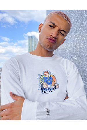 Huf Homem Sweatshirts de Manga larga - X Street Fighter II chun-li long sleeve top in white