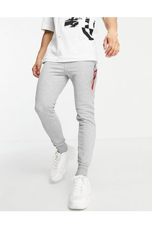 Alpha Industries X-Fit slim fit cargo joggers in grey marl