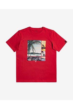 Quiksilver Hidden Coves Kids T-shirt Red