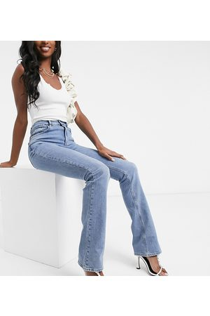 ASOS ASOS DESIGN Tall high rise '70's' stretch flare in midwash-Blue