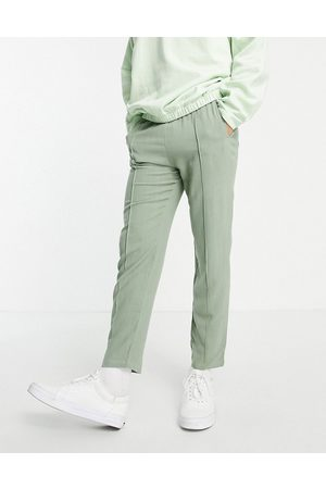 Jameson Carter Granville textured tapered joggers in olive-Green