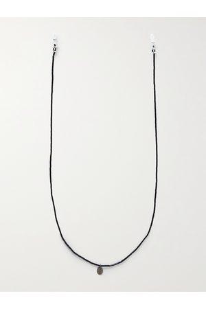 Mikia Homem Óculos de Sol - Multi-Stone, Sterling Silver and Silk Sunglasses Chain