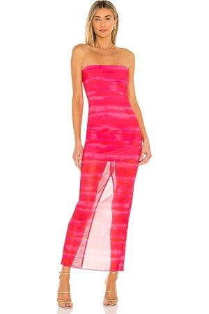 h:ours Senhora Vestidos Compridos - Rios Maxi Dress in - Fuchsia. Size L (also in XXS, XS, S, M, XL).