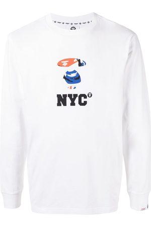 AAPE BY A BATHING APE NYC print long-sleeve shirt