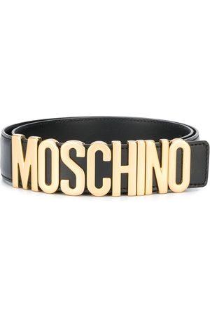 Moschino Homem Cintos - Logo plaque belt