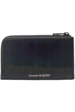 Alexander McQueen Textured logo-print zipped cardholder