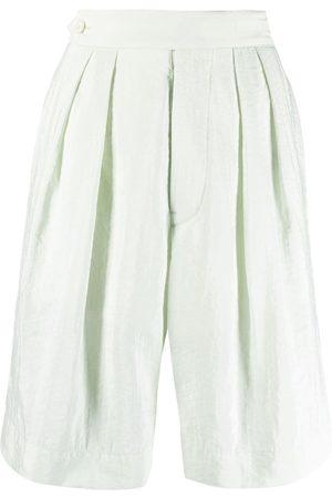 Moncler Genius Senhora Calções - High-waisted knee-length shorts