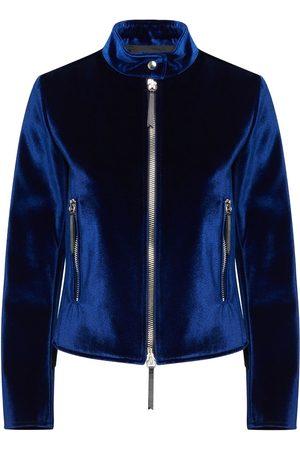 Giuseppe Zanotti Senhora Casacos - Velvet zip-up jacket