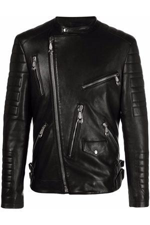 Philipp Plein Homem Casacos de Pele - Leather biker jacket