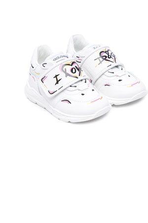 Dolce & Gabbana Menina Ténis - Love-print sneakers