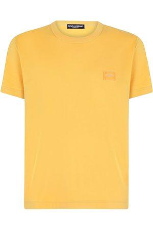 Dolce & Gabbana Homem T-shirts & Manga Curta - Logo-patch T-shirt