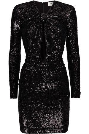 Saint Laurent Cut-out sequin minidress