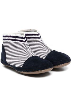 PèPè Menino Botas - Striped fabric ankle boots