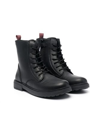 Geox Lace-up pull-tab boots